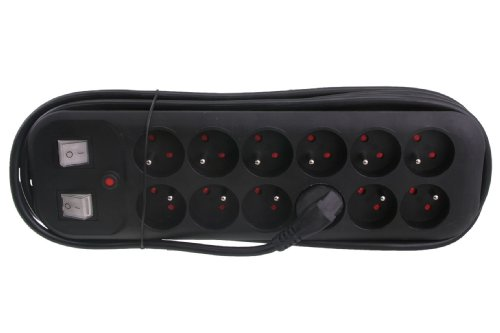 Exin-5440232-Bloc-multiprise-12-fois-avec-2-interrupteurs-3-m-3-x-15-Noir-0