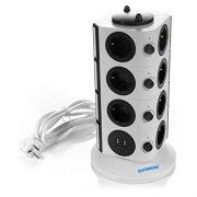 ISELECTOR-Tour-Multiprise-Interrupteur-dAlimentation-Adaptateur-15-Prises-de-Recharge-USB-2-Ports-DouilleNoir-0