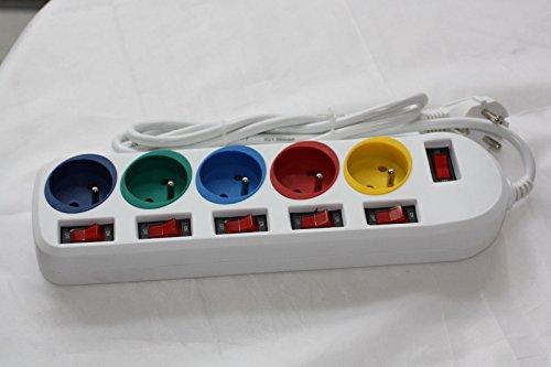 Multiprise-rallonge-prise-electrique-Bloc-prises-5-prises-interrupteur-individuellement-Steckdosenleiste-0