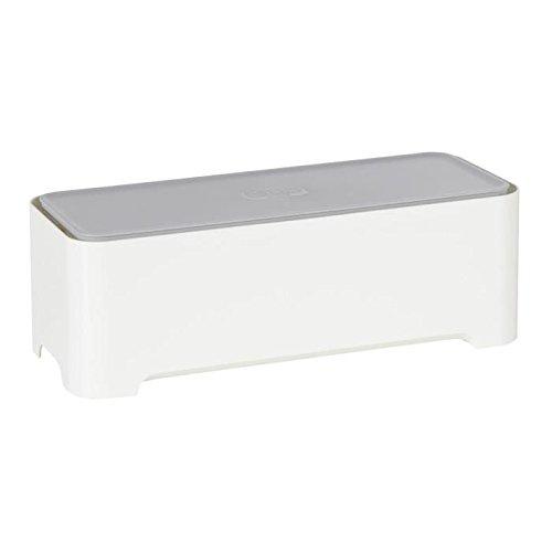 Allibert-220046-E-Box-Bote-de-Rangement-Rectangulaire-pour-Cbles-Polypropylne-BlancGris-3679-x-147-x-126-cm-0