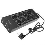 Multiprise-Parasurtenseur-Parafoudre-8-Prises-avac-5-Ports-USB-5V-24A-Chargeur-Adaptateur-Secteur-pour-iPhone-iPad-Samsung-Galaxy-Noir-8-prises-noir-0