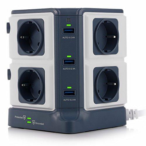 BESTEK-Tour-Multiprise-Parasurtenseur-Parafoudre-avec-8-Prises-EU-et-6-Ports-USB-24A-Interrupteur-Adaptateur-Douille-Clapet-Scuritaire-1600J-Protection-Surtensions-Clapet-Scuris-3600W16A-0