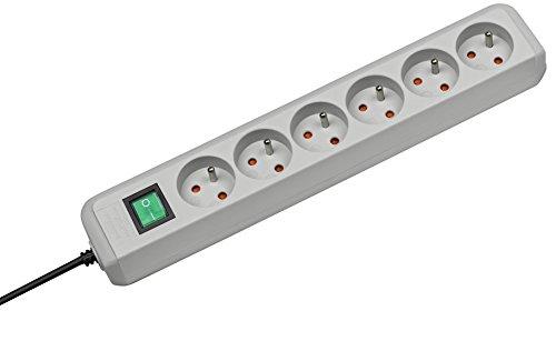 Brennenstuhl-1152851-Eco-Line-Bloc-de-6-Prises-avec-socleinterrupteur-Gris-0