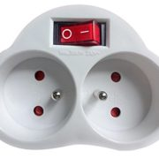 Multiprise-2-voies-Maclean-MCE31-avec-interrupteur-prises-franaises-blanc-0