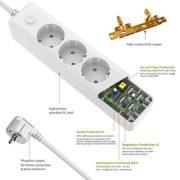 Multiprise-Parafoudre-3-Prises-avec-4-Ports-USB-Intgrs-a-Cordon-de-18m-pour-Bureau-Personnel-blanc-0-0