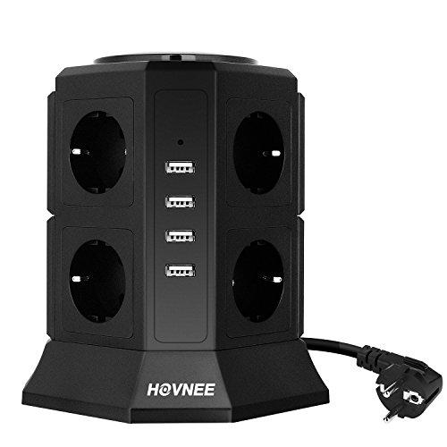 Hovnee-Tour-Multiprise-8-Prises-4-Ports-USB-Ligne-en-cuivre-pur-de-2-m-Prise-Multi-Ports-Protection-contre-les-Surcharges-et-les-Surtensions-0
