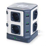 BESTEK-Tour-Multiprise-USB-Bloc-ParafoudreParasurtenseur-8-Prises-avec-6-Ports-USB-de-Recharge-0