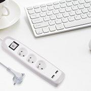 Electraline-Gummy-35601-Bloc-Multiprise-3-prises-et-2-USB-couverture-en-silicone-protection-contre-impacts-cble-2-mt-fiche-plat-0-0