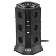 BEVA-Tour-Multiprise-Parasurtenseur-Parafoudre-avec-12-Prises-EU-et-5-Prise-USB-de-5V-45A-la-Prise-Multi-de-Distribution-de-Puissance-de-2500W10A-Protection-Contre-Surcharges-et-Surtensions-2m-0