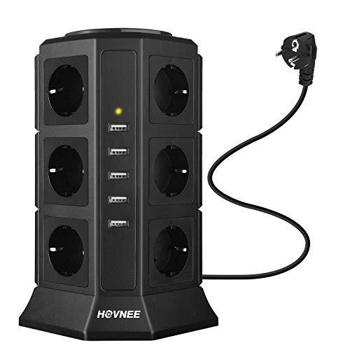Hovnee-Tour-Multiprise-12-Prises-5-Ports-USB-Ligne-en-cuivre-Pur-de-2-m-Prise-Multi-Ports-Protection-Contre-Les-Surcharges-et-Les-Surtensions-0