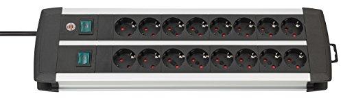 Brennenstuhl-1391000916-Prolongateur-Multiprise-Premium-Alu-Line-Technique-16-Prises-Duo-8-Prises-commutables-ArgentNoir-3-m-0