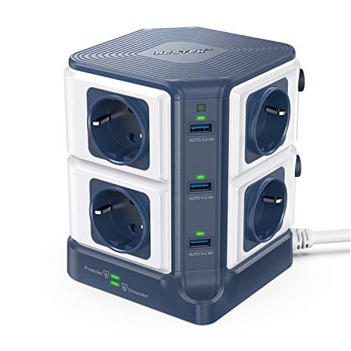 BESTEK-Tour-Multiprises-Parasurtenseur-8-Prises-avec-6-Ports-USB-0