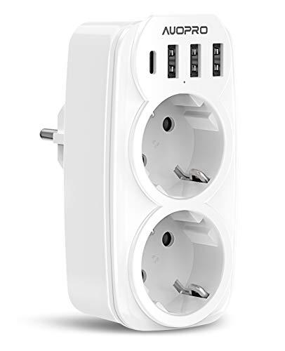 Multiprise-Murale-6-En-1-Prise-USB-Multiple-avec-2-Prises-Murale-Multiprise-USB-Secteur-4000W16A-Chargeur-Multiprise-USB-avec-3-Ports-USB-5V34A-1-Port-Type-C-15W3A-pour-iPhoneCuisineBureau-0