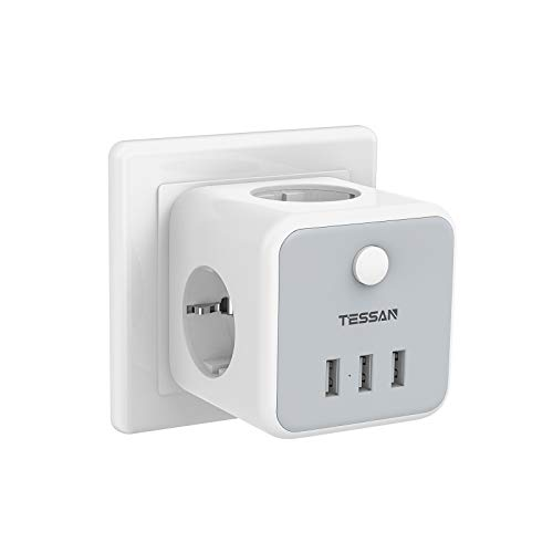 TESSAN-Prise-USB-Multiple-Multiprise-Murale-Cube-3-Prises-avec-3-USB-Secteur-6-en-1-Bloc-Multiprises-USB-Secteur-avec-Interrupteur-Multiprise-Electrique-Murale-USB-Chargeur-pour-Domicile-Bureau-0