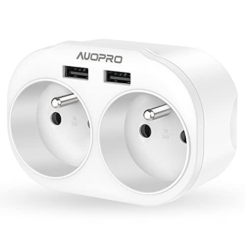 Prise-USB-Multiple-4-en-1-Multiprise-USB-Secteur-avec-2-Prises-FR-4000W16A-AUOPRO-Chargeur-Multiprise-USB-avec-24A-2-Ports-USB-Idal-pour-Maison-Bureau-Voyage-0